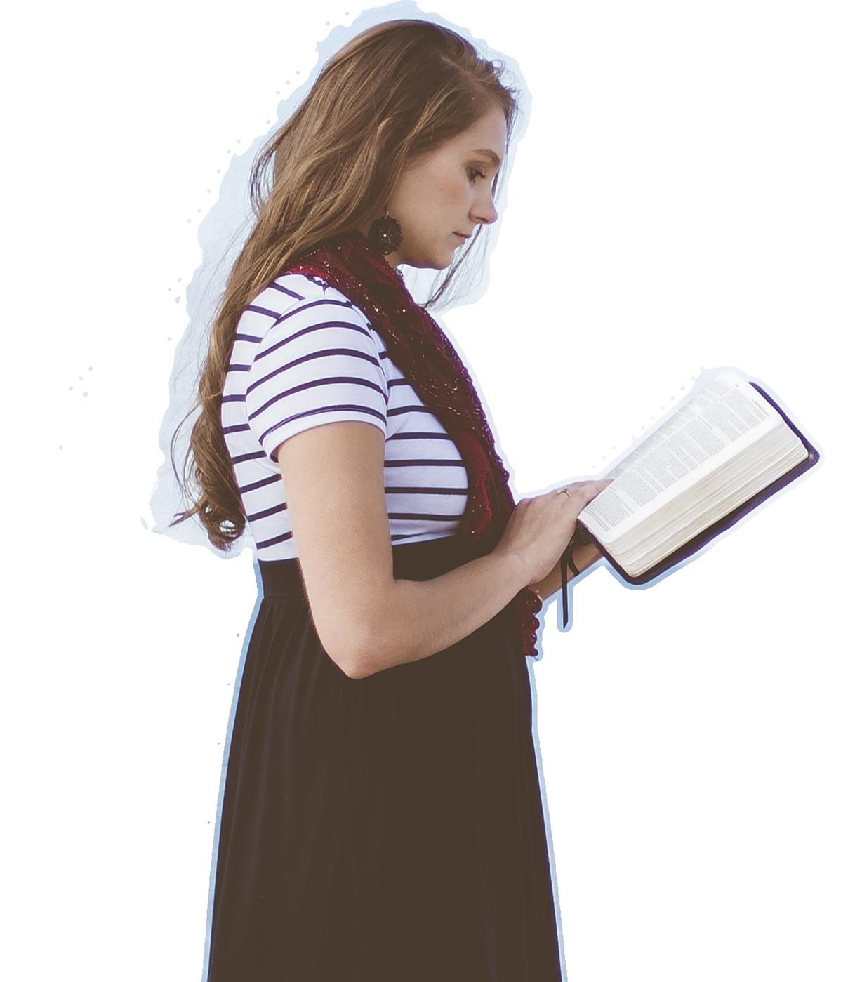 Donna che legge libri di Momenti